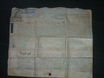 Old 1751 Indenture for Lands in Monmouth Signed by Duke of Bedford + Letters D16