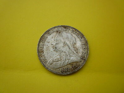 Victorian Silver Coin Shilling Dated 1897 High Grade