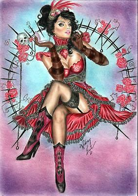 "Lady Mechanika (11""x17"") by Weverson  Lima - Ed Benes Studio"