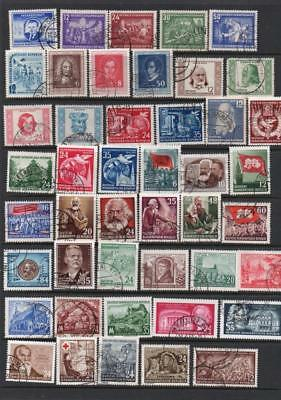 East Germany 1952-1953  Stamps  Used  High Catalogue Value G5