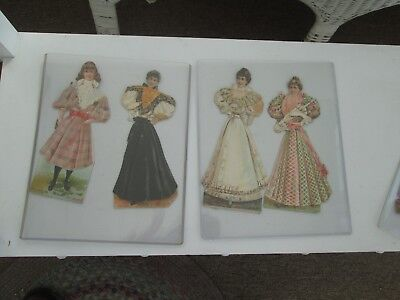 Lage Lot of 1896 Boston Sunday Globe Paper Dolls - Military & other doll items