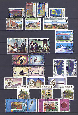 JERSEY, EUROPA CEPT LOT from 1980'S, MNH