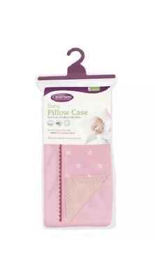 Clevamama Replacement Baby Pillow Case Cover (Pink) 40cmx24cm