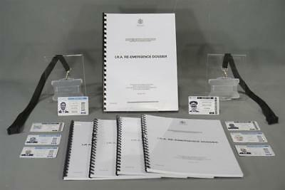 The Foreigner Screen Used Whitehall Reemergence Dossier & Id Set