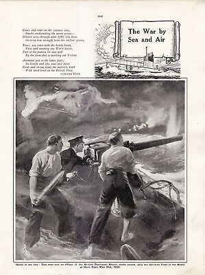 World War 1, War By Sea and Air, 2 Pages
