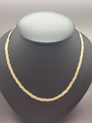 18ct Yellow & White Gold Platted Chain - 16""