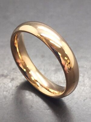 18ct Yellow Solid Gold Wedding Band - 4.0mm
