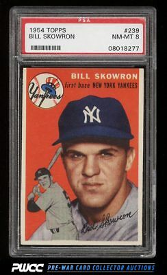 1954 Topps SETBREAK Bill Skowron ROOKIE RC #239 PSA 8 NM-MT (PWCC)
