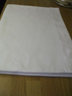 Vintage French metis linen double sheet (white) 203.20 cm x 300 cm