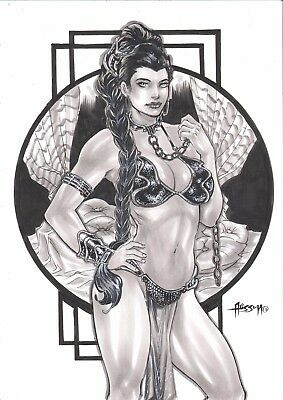 "Princess Leia (09""x12"") by Alisson - Ed Benes Studio"
