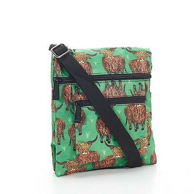 Highland Foldable Cross Body Bag in Green By Eco Chic