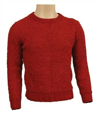 Michael Jackson own and worn red knit sweater PROOF!! (Comes with COA)