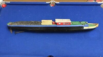 radio controlled motor canal narrow boat model sratch built rc river barge