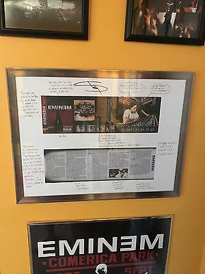 Eminem Show Autographed Poster, Large Shirt, Tape, Limited 300 Rare Brand New