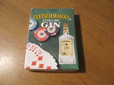 1992 Fleischmann's Extra Dry Gin Poker Size Playing Cards Brand New Sealed
