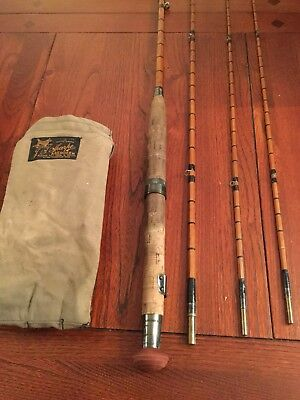 Vintage Fishing Rod Sharpes Aberdeen 4 Pieces