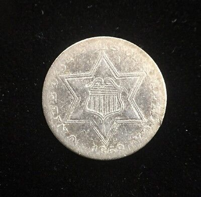 1858 3 Cent Silver U.S. Collectible Coin