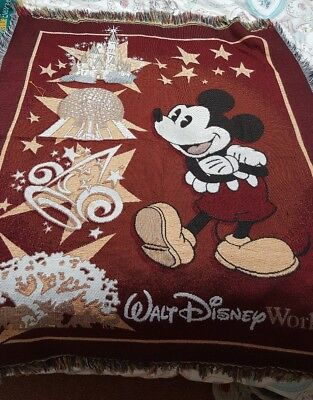 Disney World Large floor or wall covering mat throw Mickey Mouse vintage