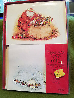 Holly Hobbie American Greetings Christmas Santa Stationery & Cards
