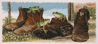 Frogs in Boots - Counted Cross Stitch Chart from Country Threads