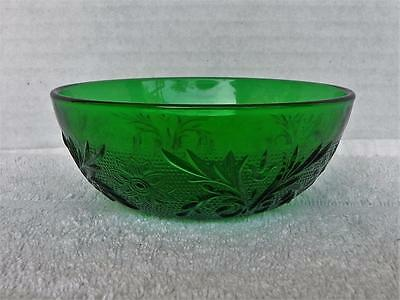 Set of 4 Vintage Anchor Hocking Forest Green Sandwich Dessert Bowls EUC