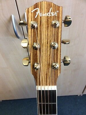 Fender Cd 220 Ce Zebrano Wood Electro Acoustic Guitar With Hiscox Hard Case