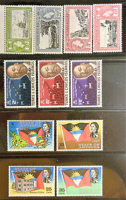 ANTIGUA, JAMAICA, TURKS & CAICOS collection of 1950s-60s MNH complete sets