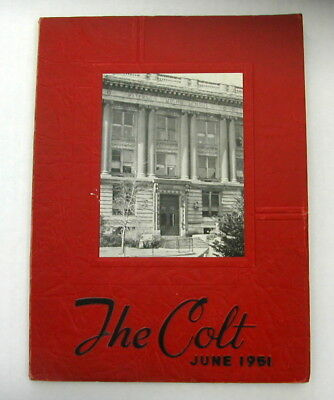 "Central High School ""The Colt"" Yearbook June 1951 Paterson NJ New Jersey"