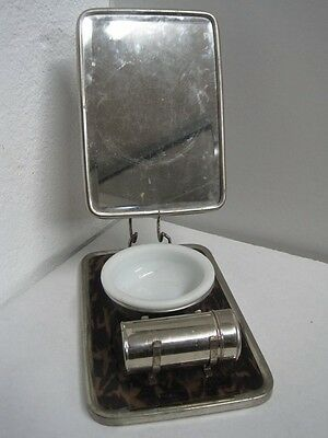 Antique Safety Razor Shaver Set With Mirror For Travel