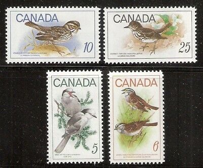 CANADA	1968-69 complete birds set #478, #496-498 mint NH