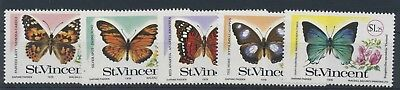 St. Vincent 1978 Butterflies and Flowers  MiNr. 494 - 498 MNH / **