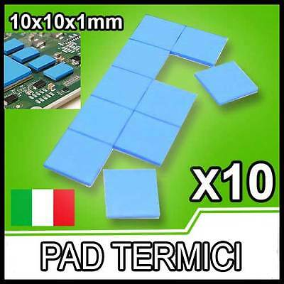 10 pezzi PAD TERMICO Thermal Pad 10x10x1mm Pasta Termica processore CPU GPU