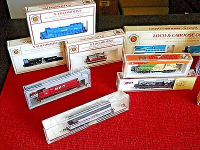"Atlas, Bachmann, Kato, Arnold, Spectrum ""n"" Scale Lot Of (11) Mighty Locomotives"