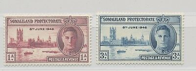 Somaliland Protectorate King George VI 1946 Victory Issue MNH / ** SG 117 118