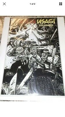 SCAG 2017 IDW TMNT/Usagi Yojimbo Kevin Eastman black and white