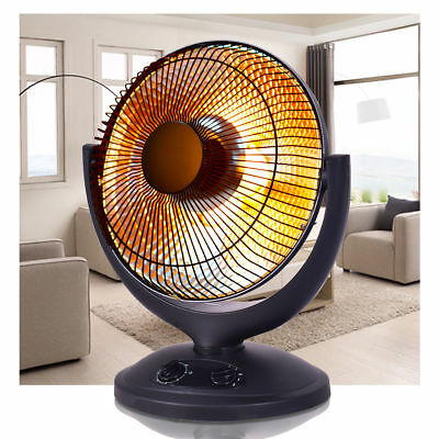 Electric Heater Duraflame Parabolic Oscillating Black  Home office Space Radiant