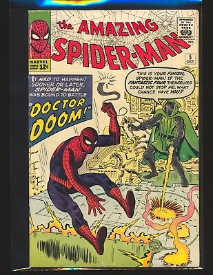 Amazing Spider-Man # 5 - early Dr. Doom appearance VG+ Cond.