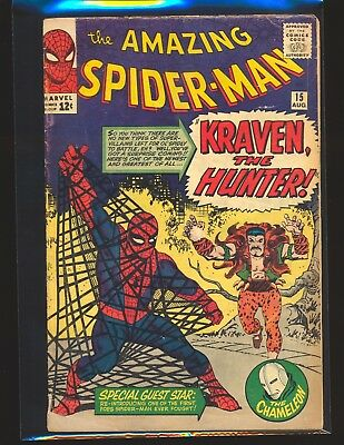 Amazing Spider-Man # 15 - 1st Kraven the Hunter G/VG Cond.