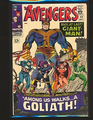Avengers # 28 - Giant Man becomes Goliath & 1st Collector G/VG Cond.