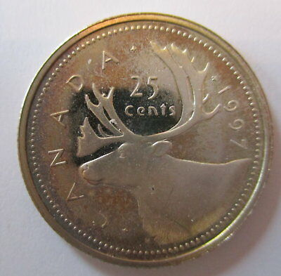 1997 Canada 25 Cents Proof Silver Quarter Coin - A