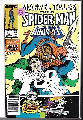 Spider-Man and The Punisher and Silver Surfer  Marvel Tales #213 High Grade