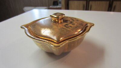Vintage Stangl Granada Gold Hand Painted Bowl with Lid, # 3676