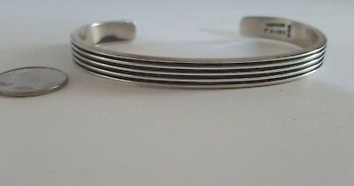 mexican 925 silver bracelet vintage TA-155 weighs 25.5 grams