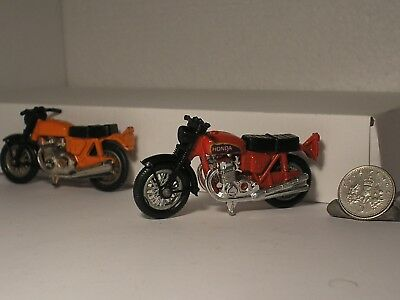 2 x Motorcycle Bike Models Matchbox Honda CB750 Four , 1 GOOD 1 Spares Hondarora