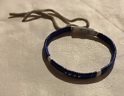 Very Nice Lakota Sioux Quilled Bracelet Quilled On Rawhide