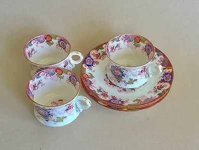 Cauldon China Cups & Saucers  Set Of 3