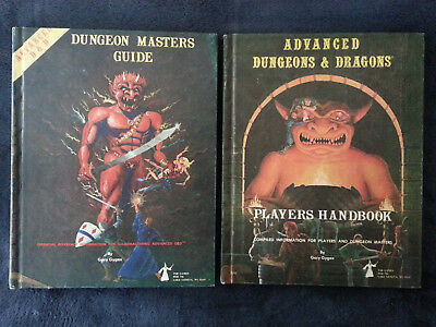 dungeon masters guide, 1st print, players handbook, 2nd print
