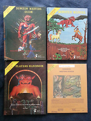dungeon masters screen, still sealed, monster manual, players handbook, DM Guide