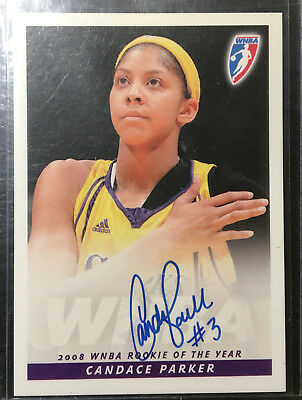 09 RITTENHOUSE CANDACE PARKER AUTO SIGNED Rokie of the Year LA SPARKS LADY VOLS