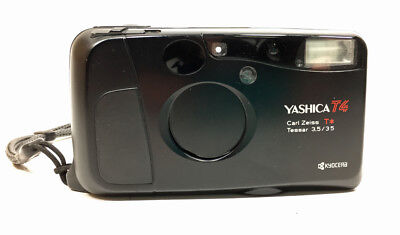 Yashica T4D with Zeiss Tessar 35mm 3.5 Black